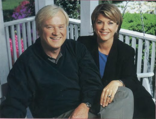 Matthews at home with his wife, Kathy.