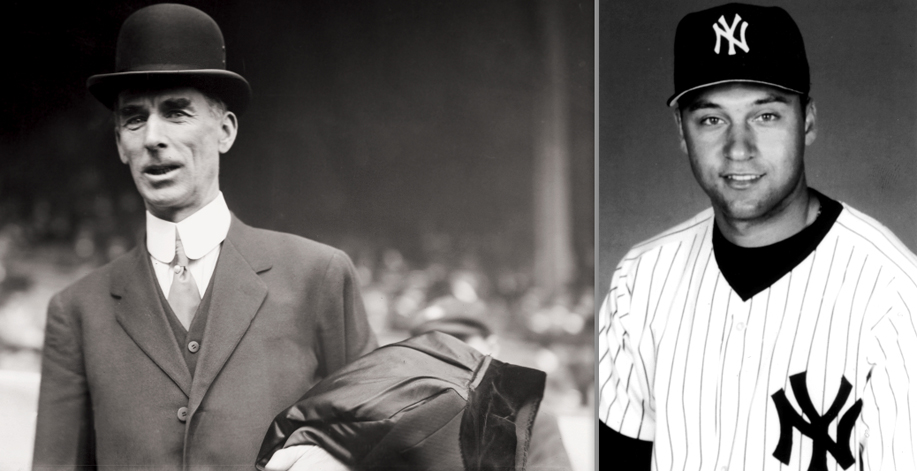 Connie Mack, owner-manager of the Philadelphia Athletics. Derek Jeter, who has Irish heritage on his mother's side.