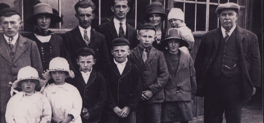 The Bell family leaving their home in Crossgar, County Down for America in 1925