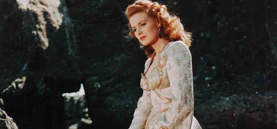 Maureen O'Hara in Flame of Araby (1951).