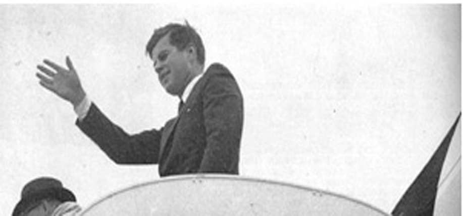 President Kennedy leaving Ireland from Shannon Airport during his 1963 visit.