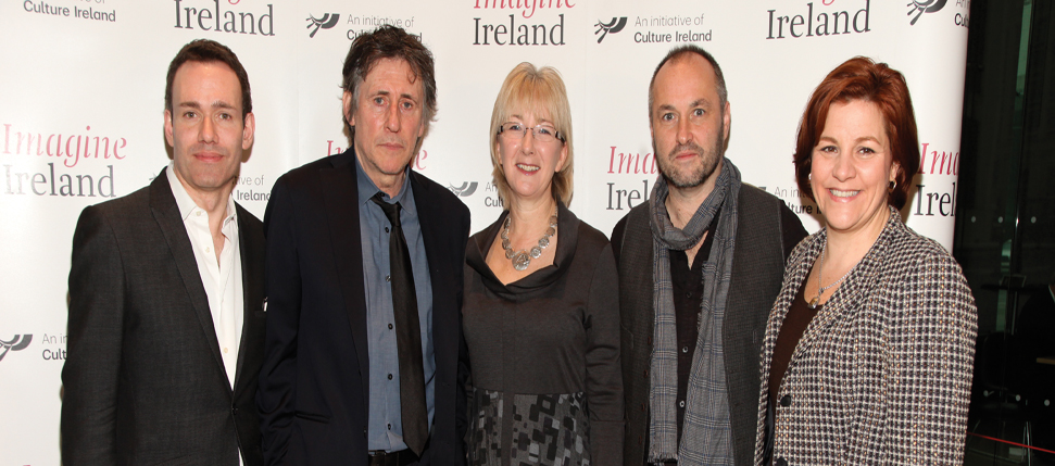 Culture Ireland CEO Eugene Downes, Cultural Ambassador Gabriel Byrne, Minister Mary Hanafin, author Colum McCann and speaker Christine Quinn