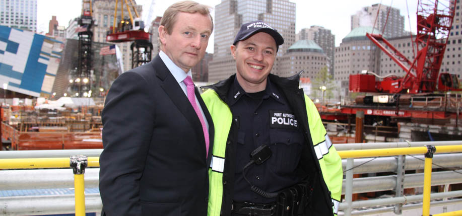 Taoiseach Enda Kenny paid his respects at Ground Zero on May 4th.