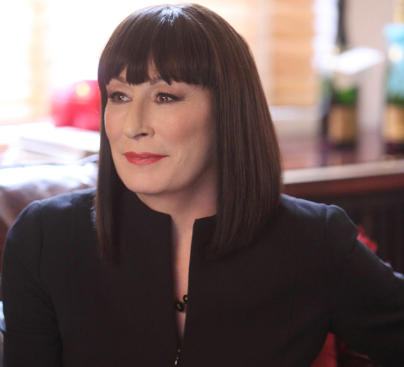Anjelica Huston as Eileen Rand on Smash. Photo by Eric Leibowitz/NBC.