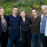 Abbie Cornish, Colin Farrell, Sam Rockwell and Martin McDonagh with writer Patricia Danaher, center. Photo by Armando Gallo