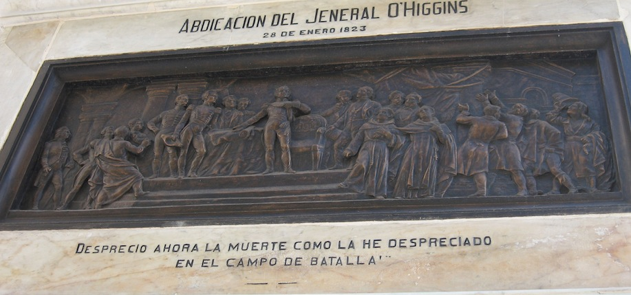 A monument to Bernado O'Higgins in Chile