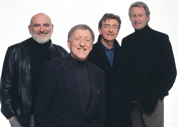 The Chieftains: Matt Molloy, Paddy Moloney, Kevin Conneff and Sean Keane.