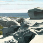 "Through Stone, 24"" x 30"", oil on canvas, 2010. Photo courtesy of Andy Weeks."