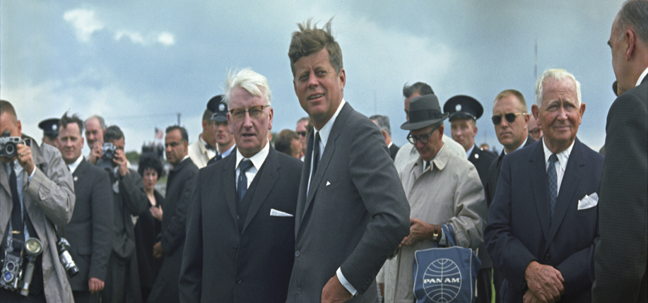 President Kennedy's appearance at New Ross Quay in New Ross, Ireland, 27 June 1963.