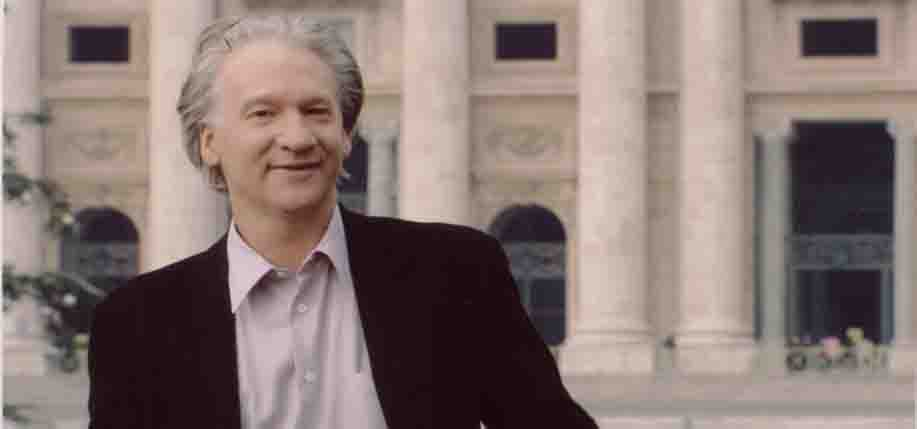 Bill Maher outside the Vatican