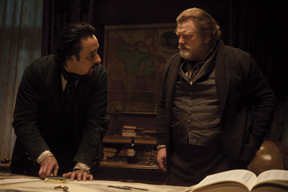 John Cusack and Brendan Gleeson in The Raven