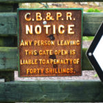 An antiquated sign. Photo by Mary Tolan.