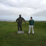 The statue of Arnold Palmer, on the Tralee course he designed. Photo: Robert Schroeder.