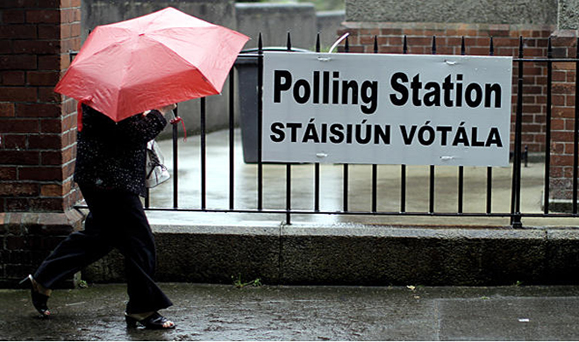 An Irish polling station on election day. Photo: Google Images.