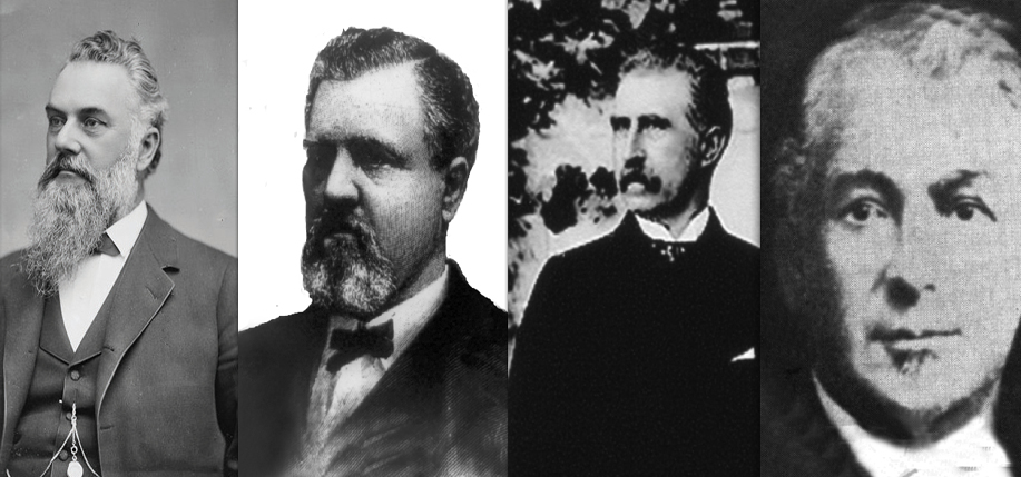 The Silver Kings: James G. Fair, James C. Flood, John W. Mackay, and William S. O'Brien.