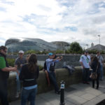 Tourists outside of Aviva Stadium for the Notre Dame vs. Navy game. Photo: Robert Schroeder.