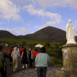 Croagh Patrick, with its statue of St. Patrick.
