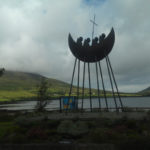 A monument to St. Brendan the Navigator near Cahersiveen, Co. Kerry.