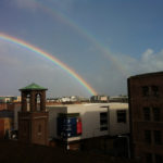 A double rainbow on our last day in Dublin.