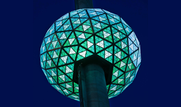 The House of Waterford Crystal Times Square New Year's Eve ball.