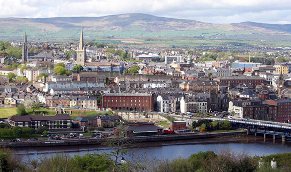 Derry City, which will be City of Culture in 2013. Photo: Paul Faith/PA Wire.