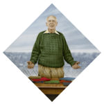 Ballagh's portrait of Dr. James D. Watson. Courtesy of Robert Ballagh.