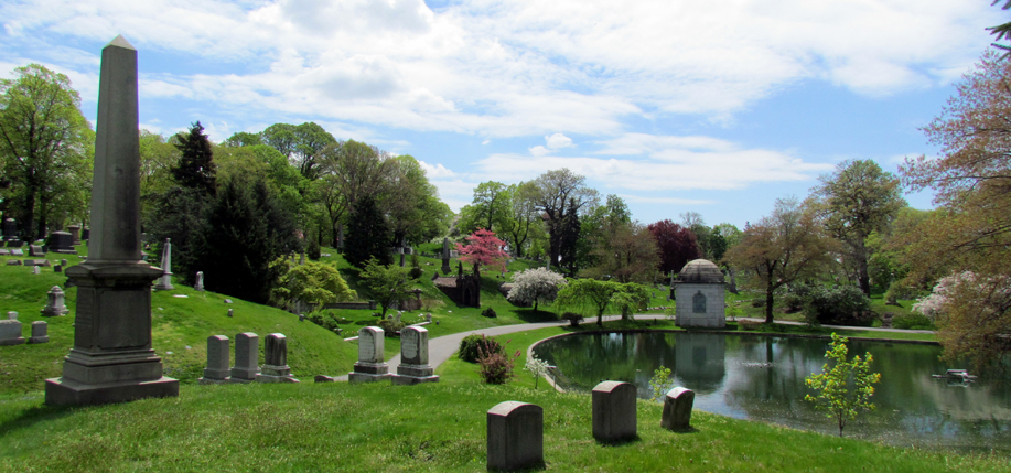 Green-Wood Cemetery in Brooklyn, where many famous Irish and Irish Americans were laid to rest. Courtesy of Green-Wood.