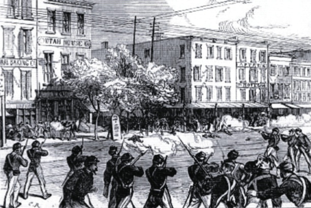 The Irish Orange Riots in New York, 1871. From The Illustrated London News.