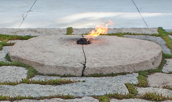 The Eternal Flame at Arlington National Cemetery.