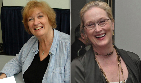 Inez McCormack, the late Irish activist, and Meryl Streep.