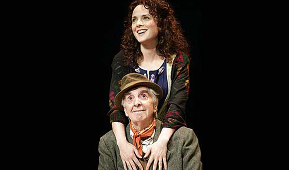 Milo O'Shea and Melissa Errico in the Irish Repertory Theater's 2005 production of Finian's Rainbow at the Westport Country Playhouse. Photo: T. Charles Erickson