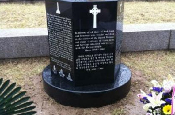 Memorial for Irish Korean War Heroes.