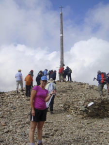 Cruce De Ferro (the iron cross), the highest point on the Camino.