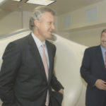 Dowling showing GE CEO Jeff Imment around one of North Shore's medical facilities