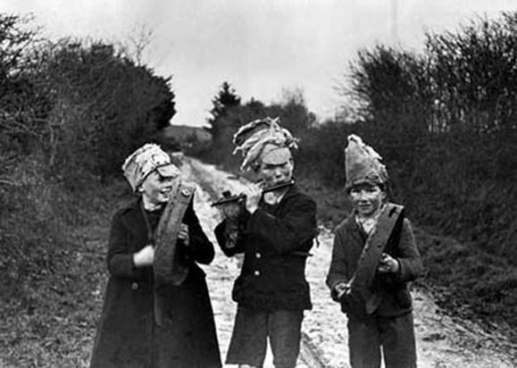 Irish wren boys on St. Stephen's Day, c. 1950