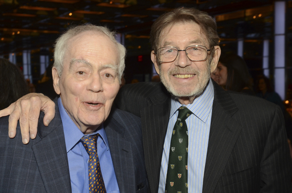 Pulizer Prize winners Jimmy Breslin (left) with Pete Hamill at the GIH Gala. Photos by James Higgins.