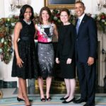 Norah and her mother with President Obama and the First Lady