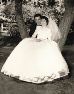 Kathleen's  parents, Norah and Frank Lynch, on their wedding day.
