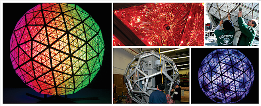 The 2014-2015 Waterford Crystal Times Square New Years Eve Ball. Image: timessquarenyc.org.