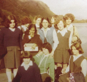 Students at Kylemore Abbey in 1977. Photo courtesy of Mary Reed.
