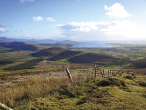 A view of the Dingle Peninsula from the top of Cruach Mhárthain.