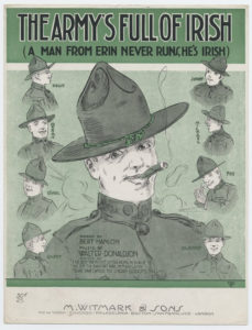 Sheet music cover from WWI. Click to enlarge.