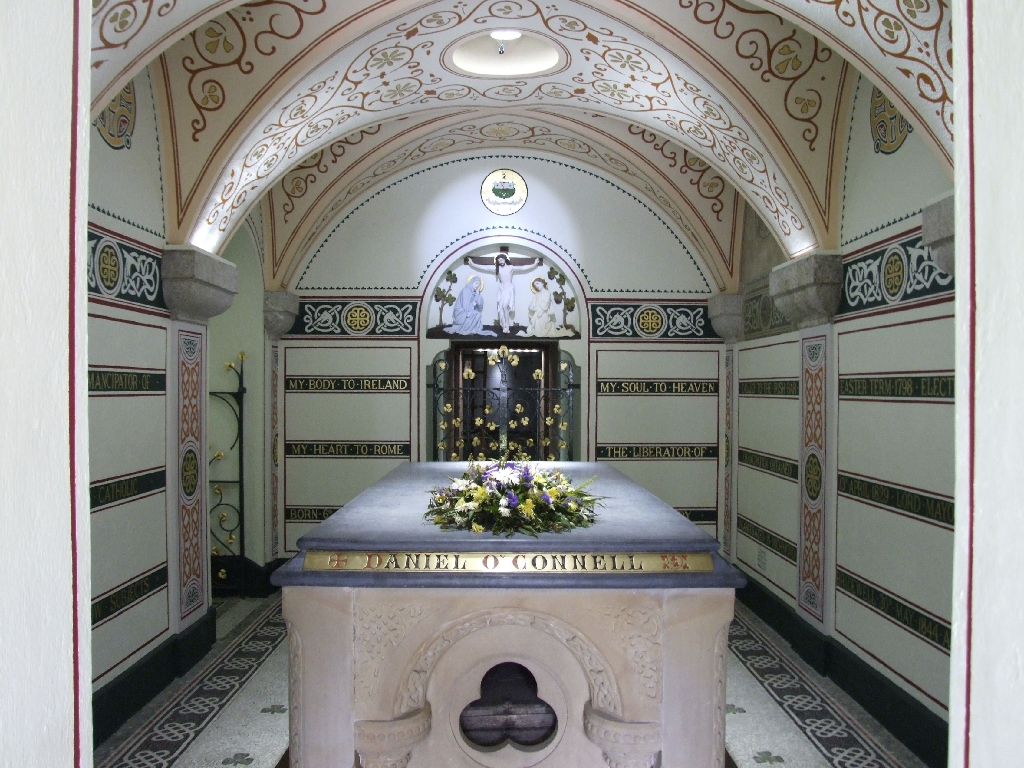 Inside Daniel O'Connell's crypt.
