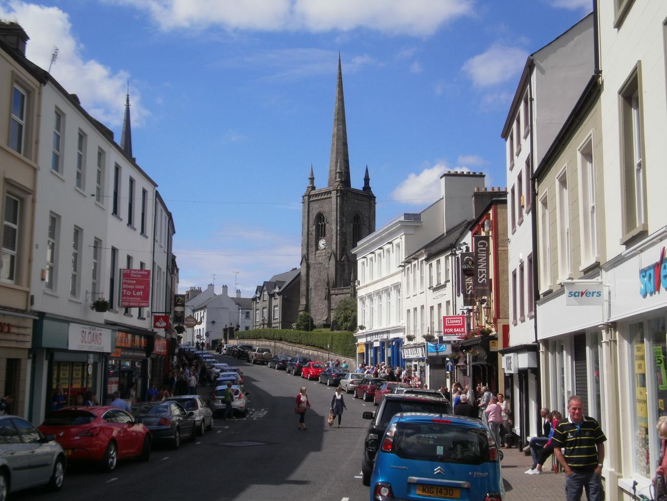 The town center of Enniskillen.