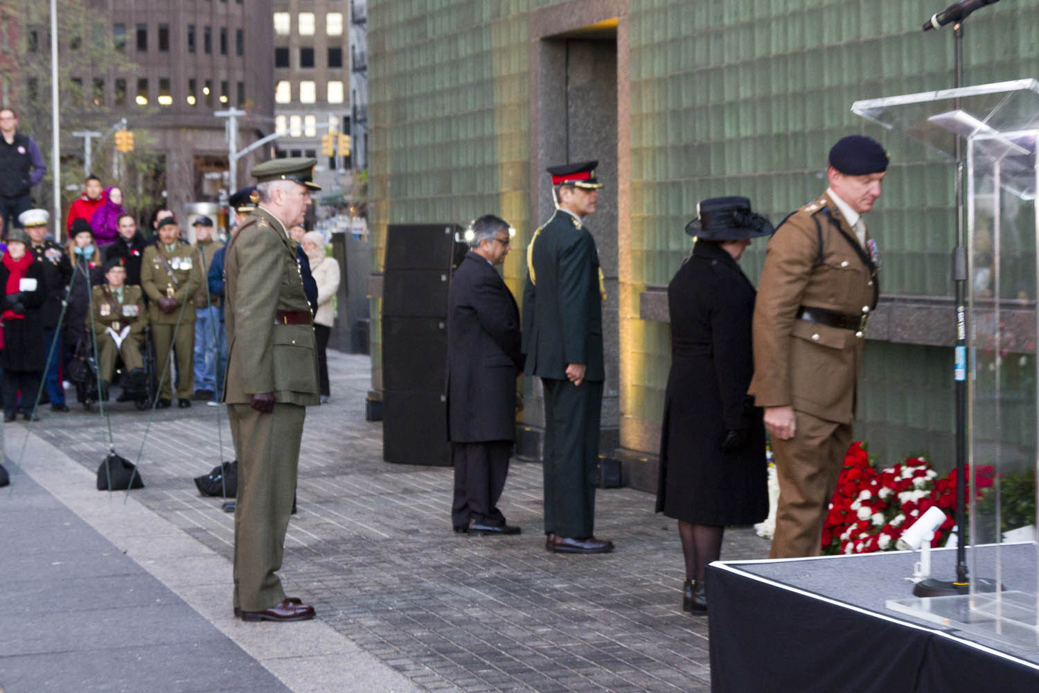 Col. Conor Fitzsimmons, representing the Irish Defence Forces who accompanied  the Consul General to the Anzac commemoration.