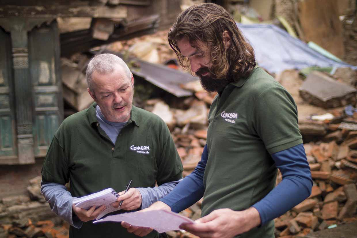 Concern Worldwide's Humanitarian Coordinator, Ros  O'Sullivan, discusses the Nepal earthquake response plan with logistician Grahan Woodcok. Concern is working with local partners to reach some of the worst affected communities with relief supplies.