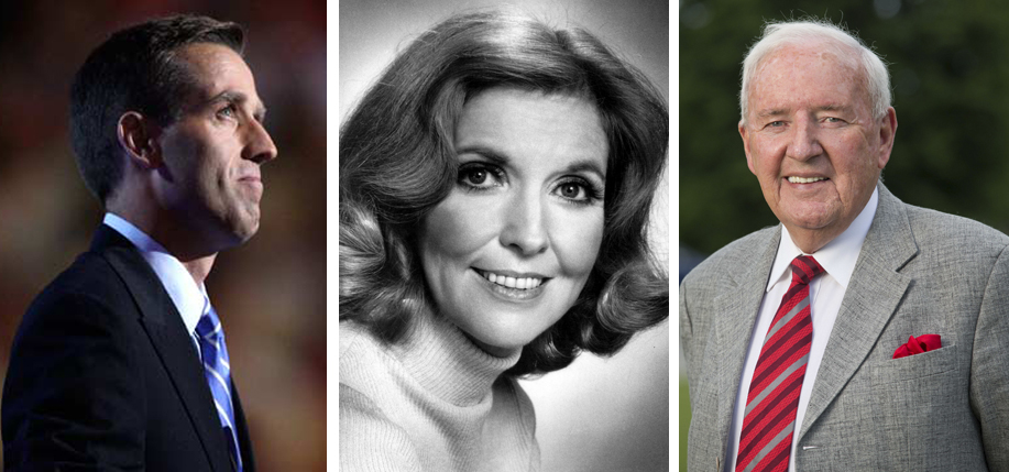 Left to right: Beau Biden, Anne Meara, and Bill O'Herlihy.