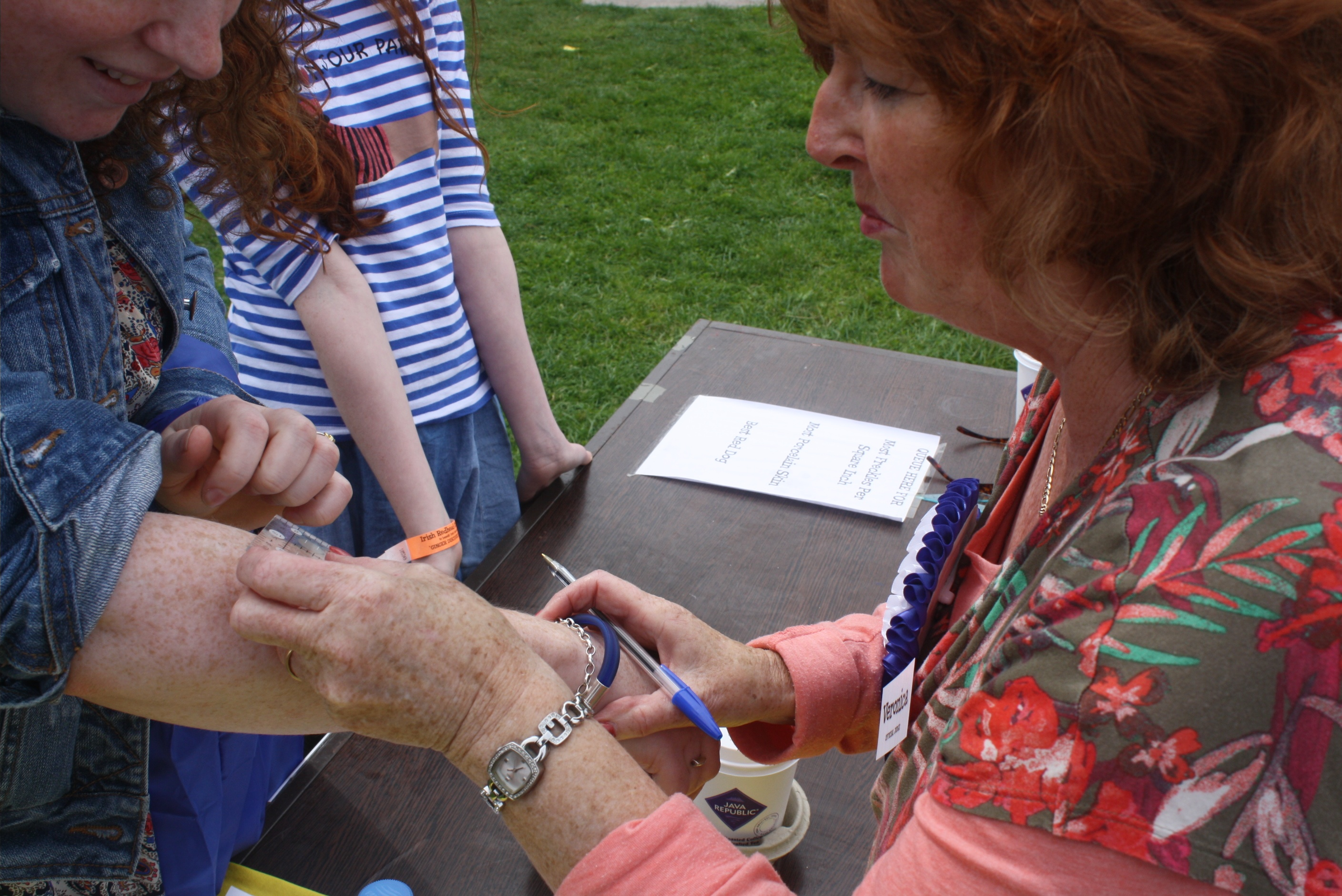 Red Head Convention 2015 - scientific freckle counting 2