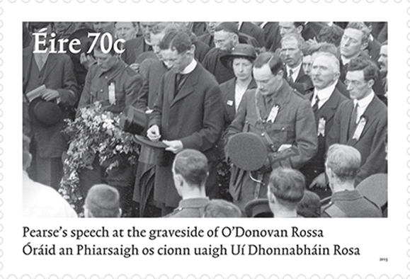 A new stamp by the GPO commemorates the funeral oration of Padraig Pearse.