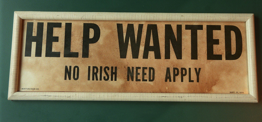 Were the No Irish Need Apply signs and ads a myth? A new historical debate is sparked, writes Matthew Skwiat.